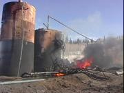 Routt County Emergency Management Director Chuck Vale talks about the oil well fire that erupted Thursday morning near Hayden.